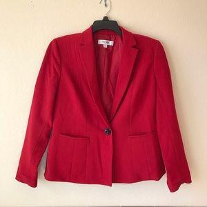 Jones Studio Womens Red Blazer Jacket
